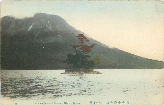 Kozukejima at Chuzenji, Nikko Japan Postcard