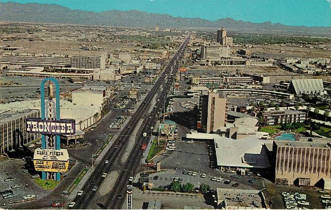 Aerial view of the Fabulous Strip Las Vegas, Nevada Postcard