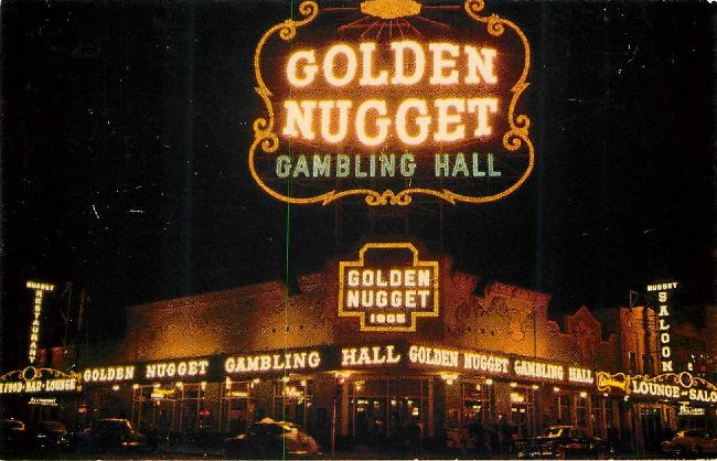 Million Dollar Golden Nugget Gambling Hall Postcard