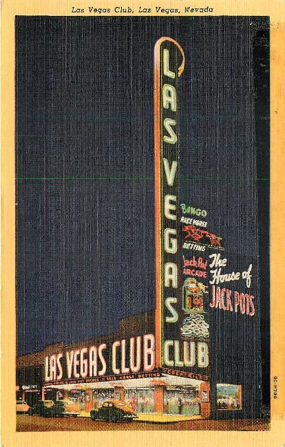 Las Vegas Club Postcard