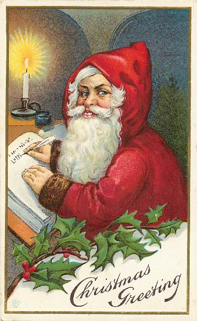 Christmas Greeting Postcard