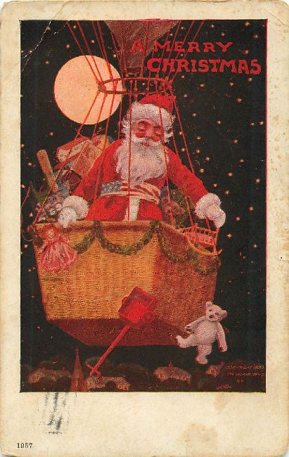 """Old Nick"" A Merry Christmas Postcard"