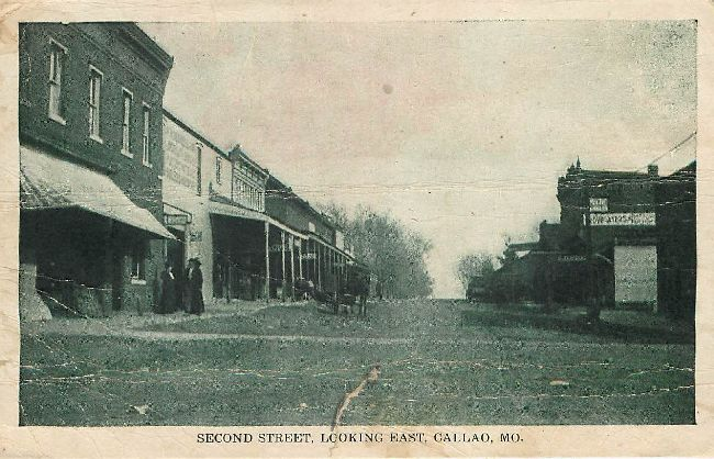 Second Street, Looking East, Callao, MO.