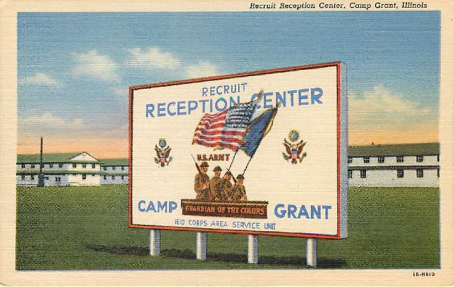 Recruit Reception Center, Camp Great, Illinois