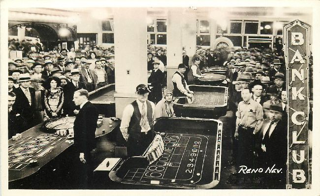 Bank Club - Reno, Nev. Postcard