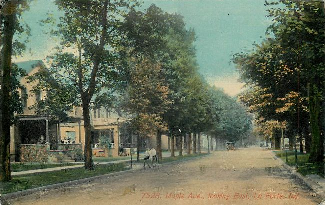 7528. Maple Ave., looking East, La Porte, Ind.