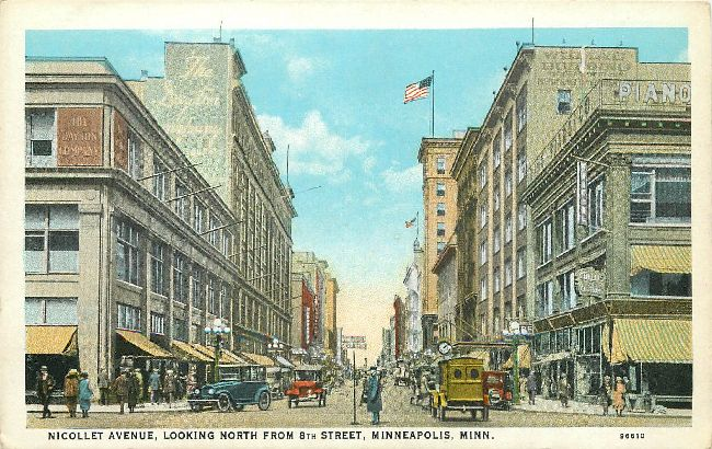 Nicollet Avenue, Looking North from 8th Street, Minneapolis, Min