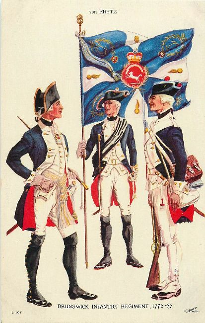 Brunswick Infantry Regiment, 1776-77 - von Rhetz