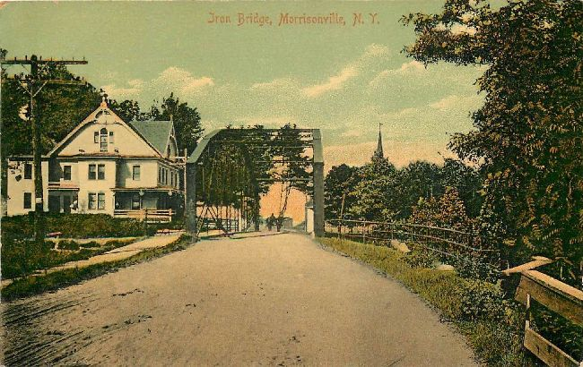 Iron Bridge Morrisville, NEW YORK Postcard