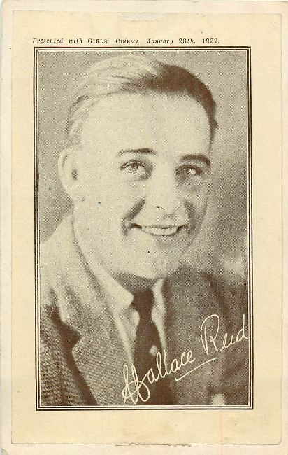 Wallace Reid Presented with Girls Cinema 1-28-1922 Postcard