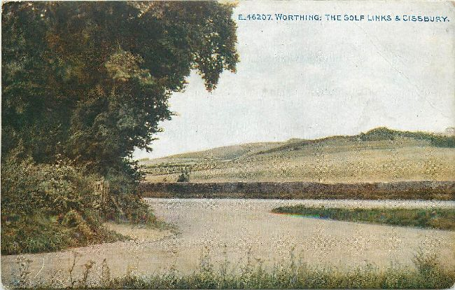 Worthing The Golf Links & Cissbury Postcard