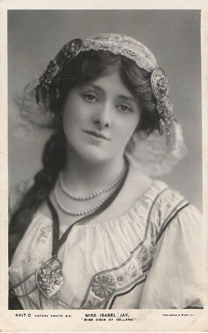 Miss Isabel Jay Edwardian Actress Postcard