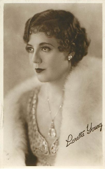 Loretta Young Cinema Actress Postcard