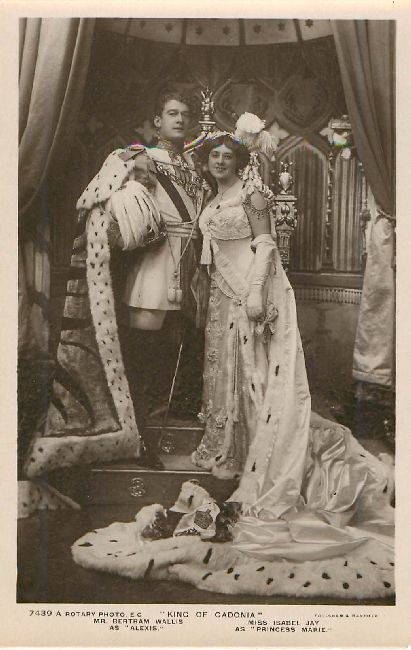 """King of Cadonia"" Mr. Bertram Wallis & Miss Isabel Jay Postcard"