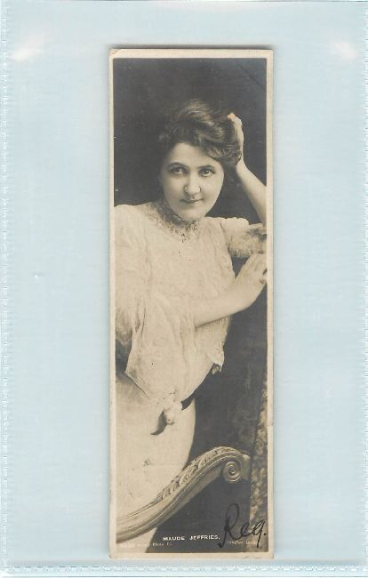 Bookmark Postcard Maude Jeffries Postmarked 1905