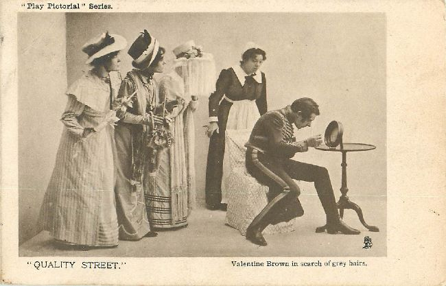 """Quality Street"" Theater Postcard"