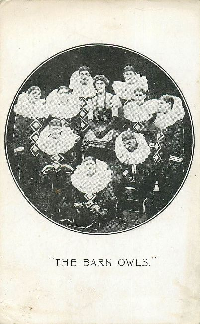 The Barn Owls Theatre Postcard Never Postmarked