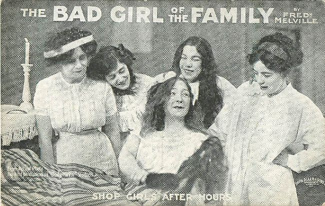 The Bad Girl Of The Family, Shop Girls after Hours Postcard