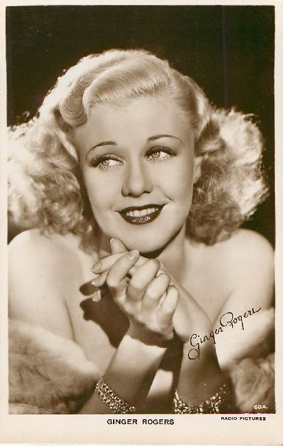 Ginger Rogers - Signed Postcard