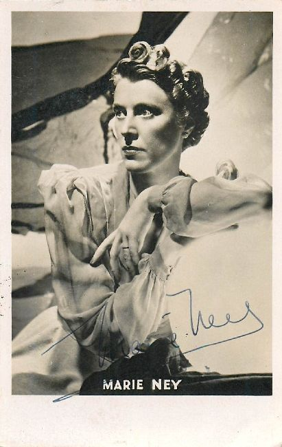 Marie Ney - Signed Postcard
