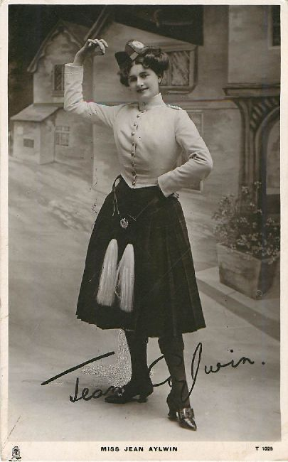 Miss Jean Aylwin - Signed Postcard