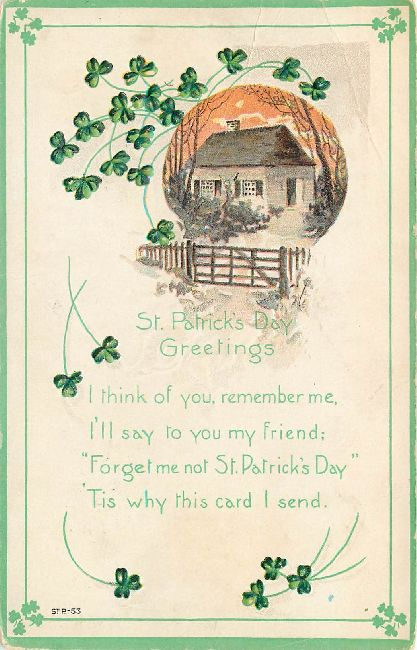 St. Patrick's Day Greetings Postcard