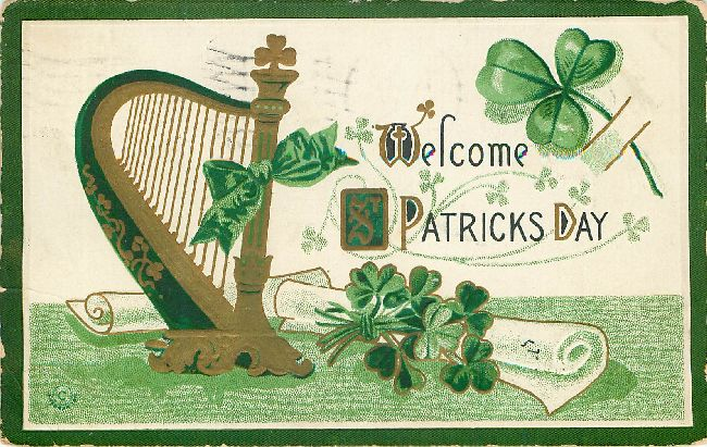 St. Patrick's Day Postcard - Welcome St. Patricks Day