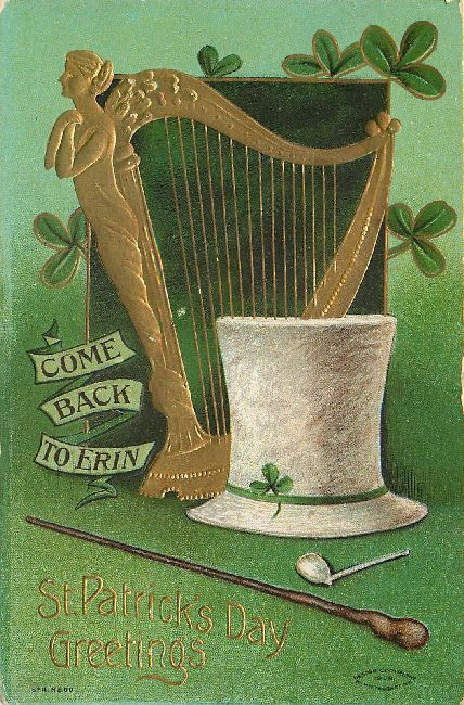 St. Patrick's Day Greetings Postcard - Come Back to Erin