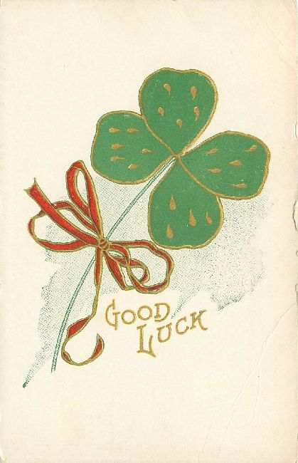 St. Patrick's Day Postcard - Good Luck