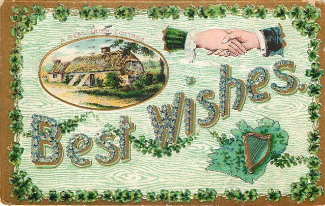 Best Wishes - St. Patrick's Day Postcard
