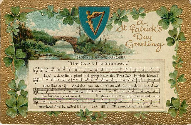 St. Patrick's Day Greeting Postcard -The Dear Little Shamrock