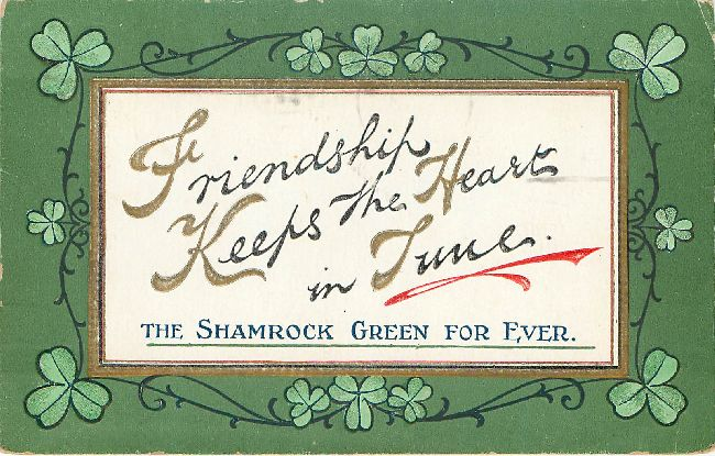 St. Patrick's Day Greeting Postcard-The Shamrock Green For Ever