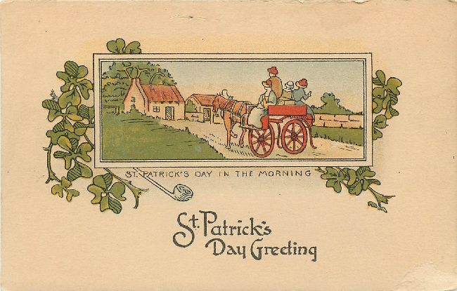 St. Patrick's Day Greeting Postcard-St. Patrick Day In The Morni