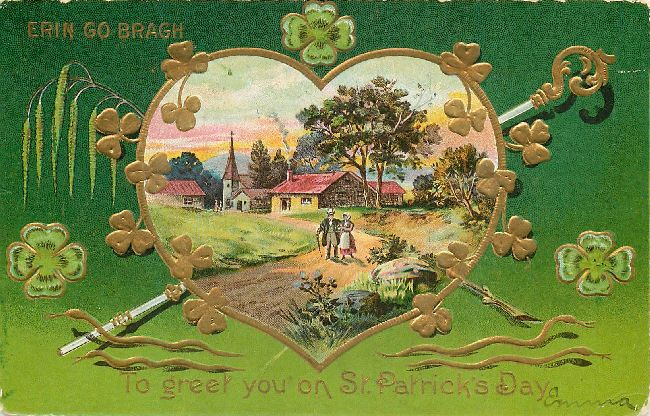 St. Patrick's Day Postcard-Erin Go Bragh-To greet you on St. Pat