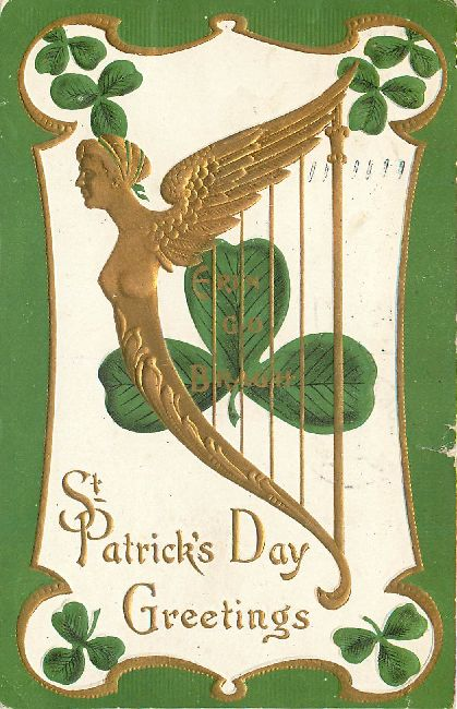St. Patrick's Day Greetings Postcard-Erin Go Bragh