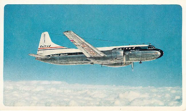 United Airliners Mainliner Convair United's Fleet Postcard