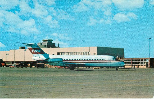 Trans World Airlines Postcard at James M. Cox Intern. Airport