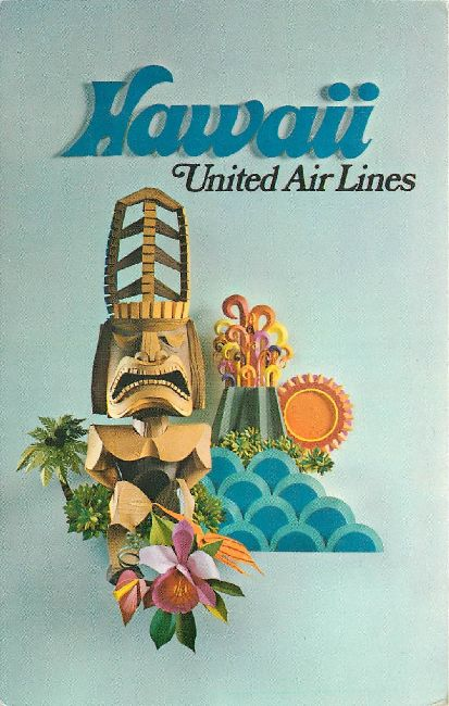 United Airlines Postcard-Hawaii