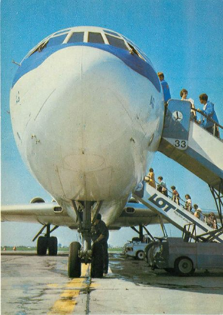 Polish Airlines LOT Postcard