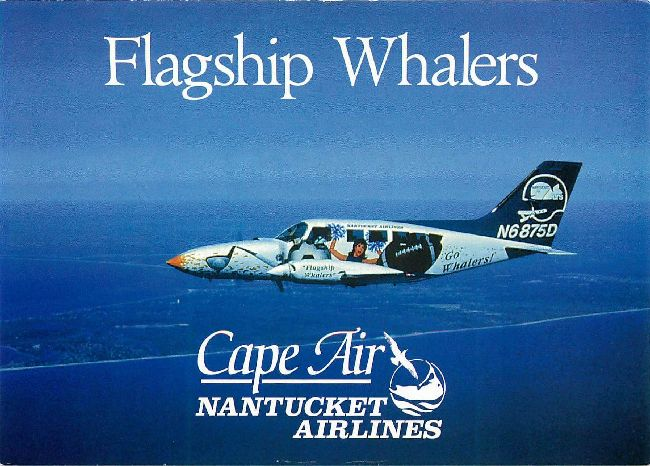 Flagship Whalers Cape Air Nantucket Airlines Postcard
