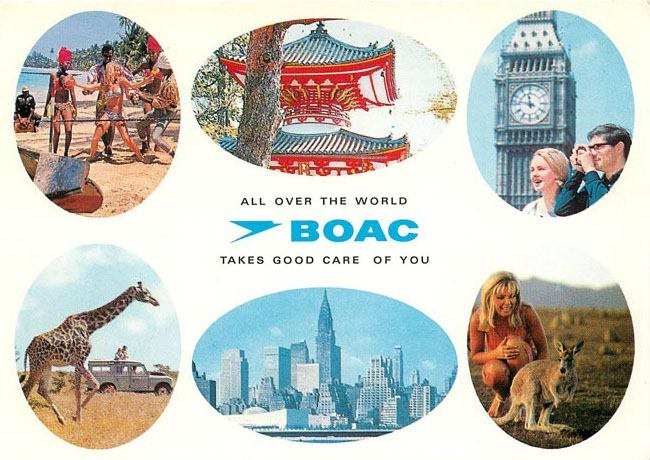 BOAC airlines postcard