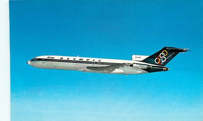 Olympic Airways Postcard BOEING 727-200