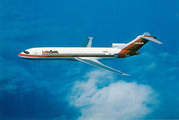 US Air Postcard Showing USAir 727-200 Jet
