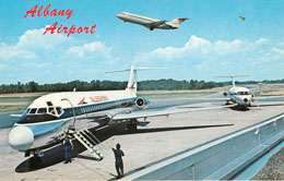 Allegheny Airline Postcard Serving Albany Airport