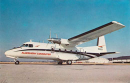 Allegheny Airlines Postcard The Nord 262 pictured on Card
