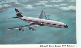 BOAC Airlines Rolls-Royce 707 Jet Liner Postcard