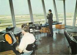 Czechdslovak Airlines Postcard Dispatching Tower