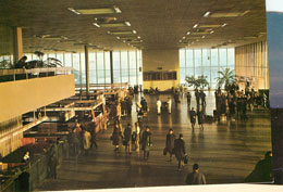 Czechdslovak Airlines Departure Hall Postcard