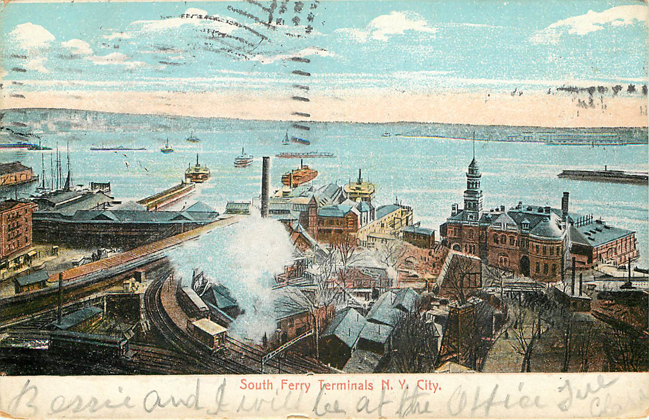 South Ferry Terminals N.Y. City Postcard