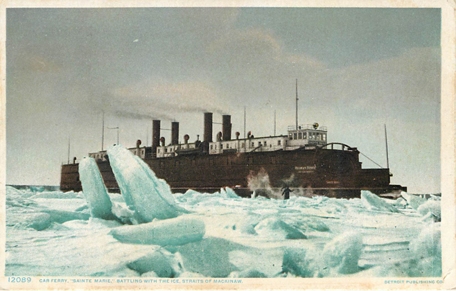 "12089 Car Ferry ""Saint Marie"" Postcard"